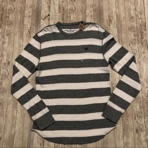 American Eagle stripe thermal long sleeve